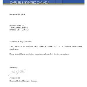 Carlisle certificate