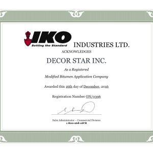 IKO certificate
